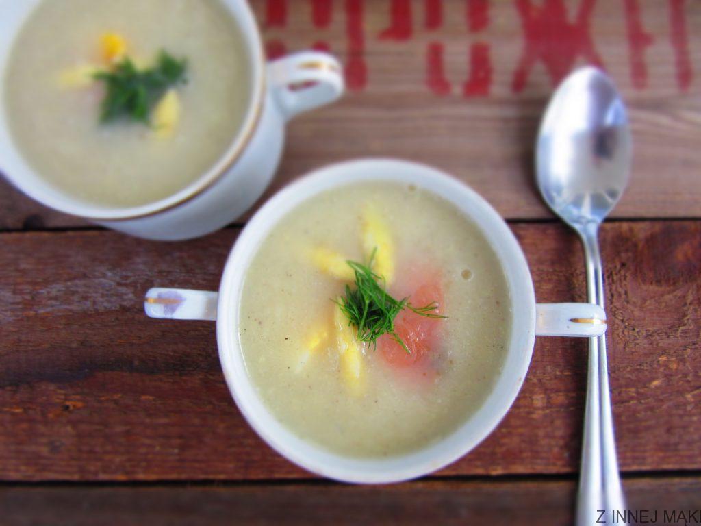 Zupa Krem Z Bialych Szparagow Z Lososiem Z Innej Maki